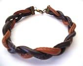 Men's Faux Leather Bracelet, Men's Jewelry, Unisex Jewelry, Faux Leather Bracelet, Vegan, Vegetarian Gifts, Vegan Gift