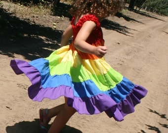 Twirlalicous Rainbow Dress - Girls
