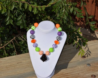 Girls Halloween chunky necklace/Gumball necklace/Photo prop