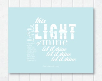 This Little Light of Mine Scripture Print with Matthew 5:16