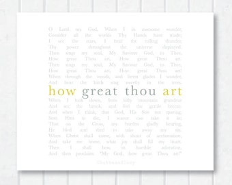 How Great Thou Art Hymn Print