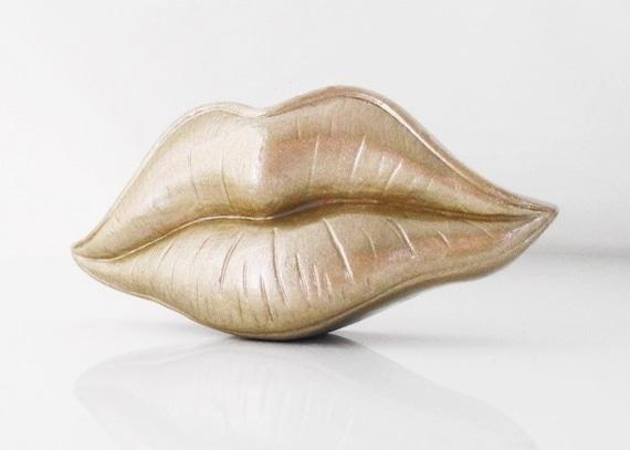 Gift For Him Lips Ornament Lips Figurine Send A Kiss Hodi