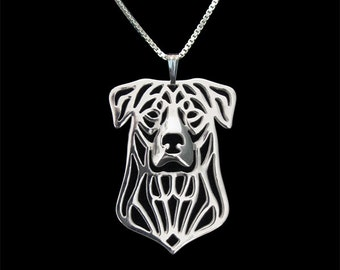 Beauceron - sterling silver pendant and necklace