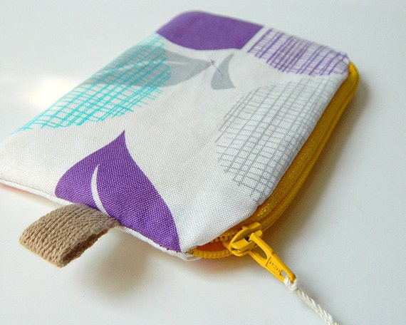 Zippered Knitting Bag : Notions bag small zippered knitting pouch for by