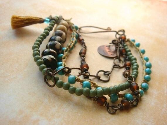Bohemian Jewelry Tassel Boho Chic Tribal Ethnic Style Bracelet