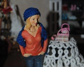 Miniature crocheted Hat and Scarf combo in various color options