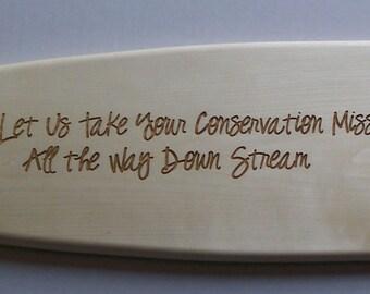 """36"""" aspen wood canoe paddle custom laser engraved personalized"""