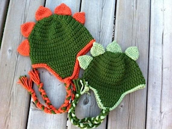 Dinosaur Hat Crochet Pattern Newborn Toddler Child