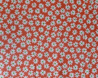 Red-Orange Small Daisy from QH Textiles