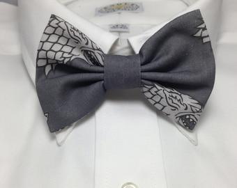 Stark Dire Wolf Sigil Print Bowtie / Bow Tie