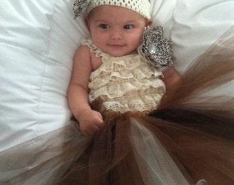 Cheetah tutu skirt  Fits newborn- 12 months