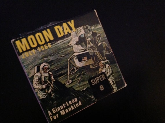 Vintage Original NASA Super 8 Film - Moon Day July 1969 Rare Historical Collectible