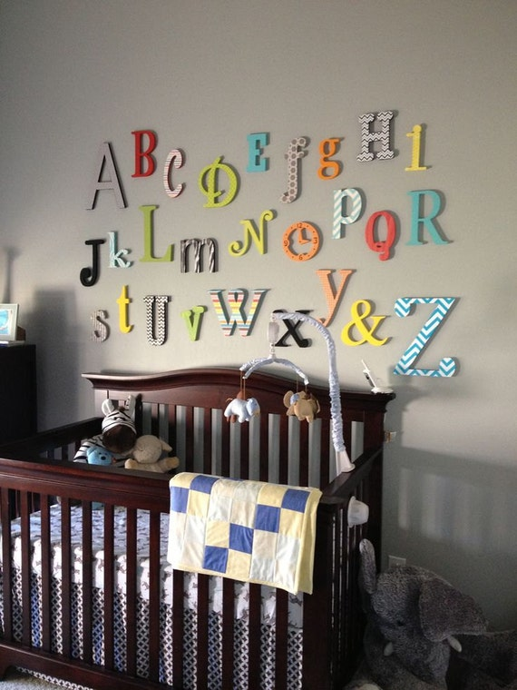 Sale alphabet set unpainted wooden letter alphabet wall for Where to buy wooden letters for nursery