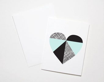 Love Card- Geometric Heart