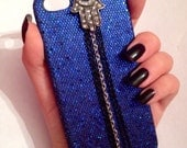 iPhone 5 Sequined Hamsa Chained Case
