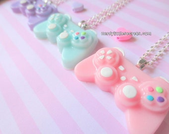 Pastel Mini PlayStation Controller Necklace (Choose One)