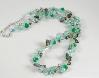 KarenWhalenDesigns Shades of Green Briolette Necklace