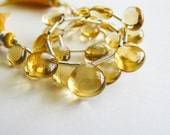 Citrine Briolettes, Heart, AAA, Smooth, 8-10mm, Full Strand, 24 Beads