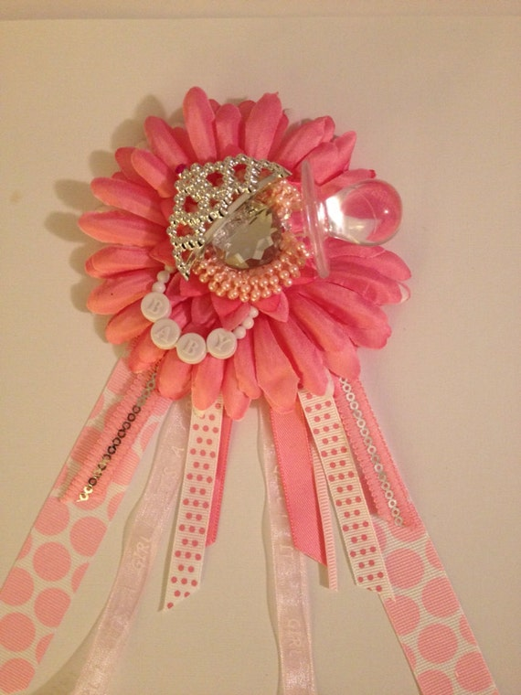 baby shower corsage girl baby shower