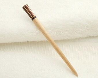 Neopolitan Hair Stick - Maple - Striped Birch