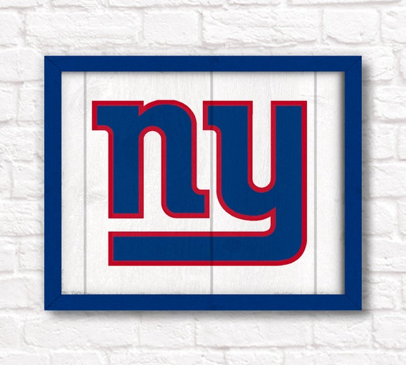 Ny Giants Man Cave Decor : New york giants rustic wall hanging by thepaintedllama