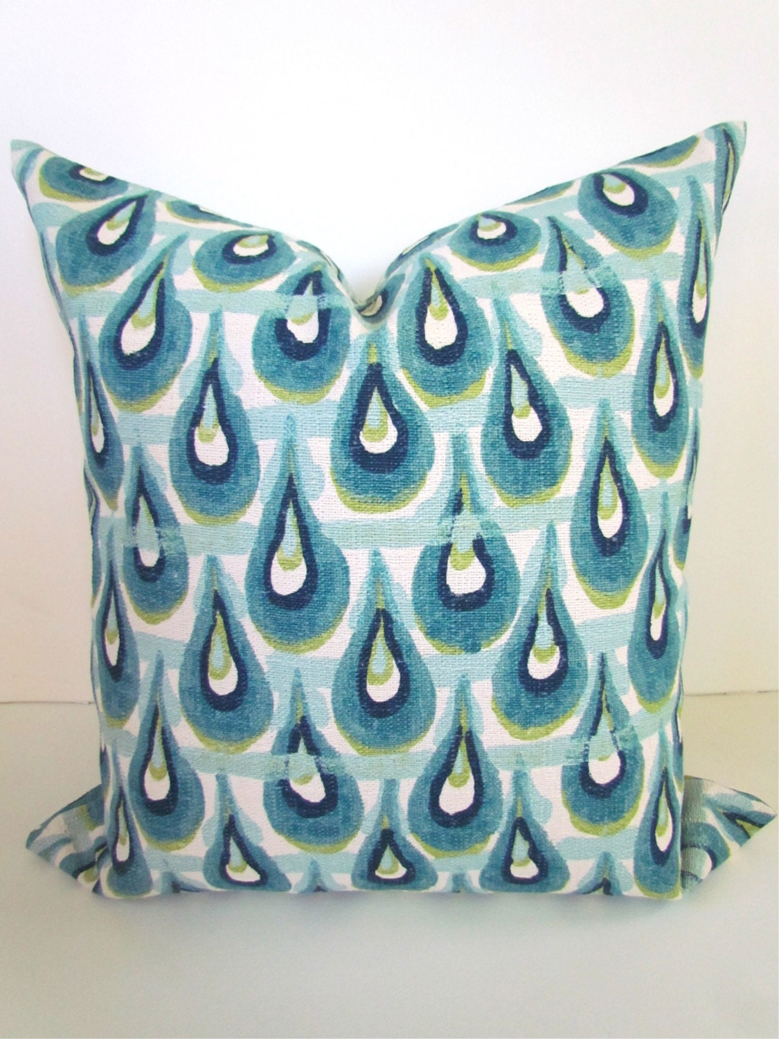 PILLOW Blue Decorative Pillow Covers Teal Green Navy Throw