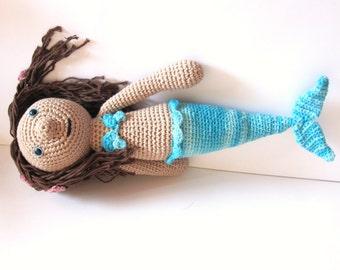 Mermaid Doll - Handmade Mermaid Amigurumi -Crochet Mermaid Doll - Fairy Tale Doll - Mermaid Softies - Mermaid Plush - Stuffed Mermaid Doll