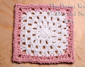 PDF Crochet Pattern File - Arianna's Lace 6 Inch Square