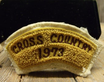 Cross Country Chenille Patches for your letterman jacket