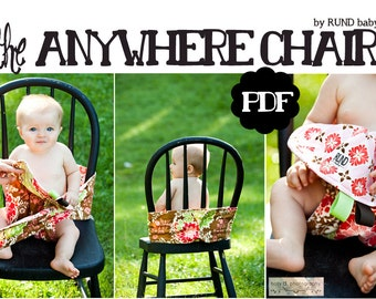 PDF pattern - Anywhere chair - fabric travel high chair works in shopping cart as well
