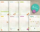 Nautica Digital Planner Set - Essential - Yearly Planner Monthly Planner Weekly Planner Daily Planner - Cash Flow Menu Organizer Notes - A5