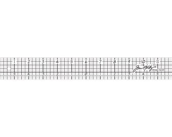 """Idea-Ology Design Ruler 12"""" by Tim Holtz"""