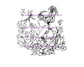 A digital stamp/image instant download.... The Meeting