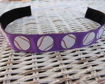 Purple Softball Headband - Adjustable Sports Headband