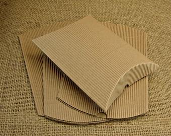 Kraft Pillow Boxes - 25 Favor Boxes - DIY Wedding Coffee Favors