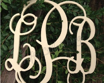 18 inch Painted Vine connected monogram letters - HAND Painted