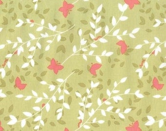 SALE Sweet Leaves in Bloom - Bella Butterfly - Michael Miller Fabric