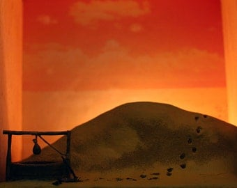 Diorama Night Light - Crossing the Dune and into the Well