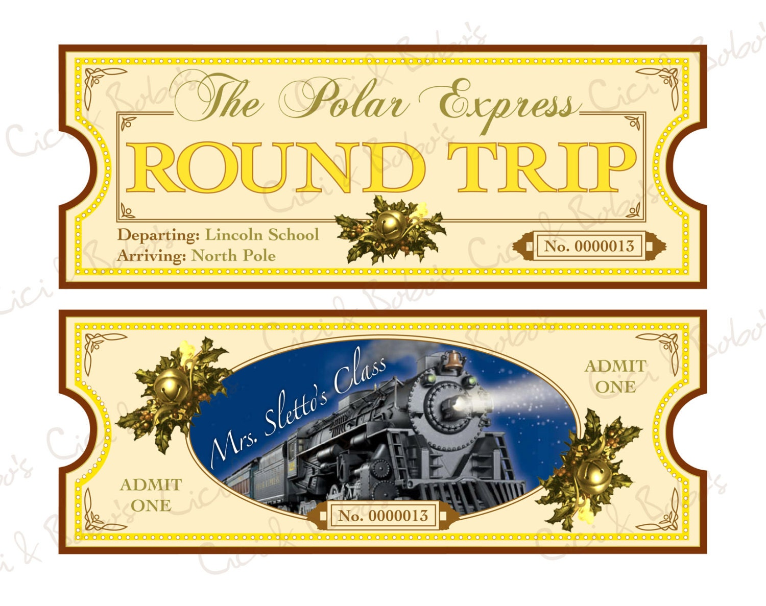 Polar Express Ticket Printable Polar express theme diy printable ...