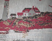 LIGHTHOUSE THROW Knit Fabric Home Cottage Rv Décor Gift Item Porch Car