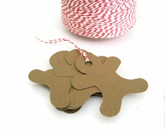 Gingerbread Man Die Cuts, Large Gingerbread Men, Kraft paper Gingerbread Man, Christmas Decorations,  Gingerbread Men, Winter Decorations