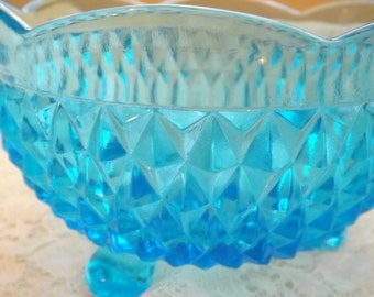 Beautiful Vintage Blue Candy Dish
