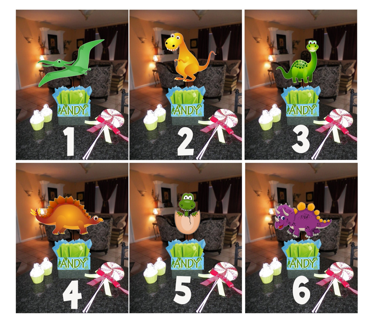Dinosaur birthday party centerpieces theme diy small