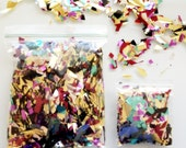 Large Bag of Metallic Geometric Confetti (BAG ON LEFT) - Wedding - Party - Baby Shower - Send Off