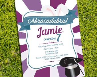 Magician Party Invitation - Instantly Downloadable and Editable File - Personalize at home with Adobe Reader