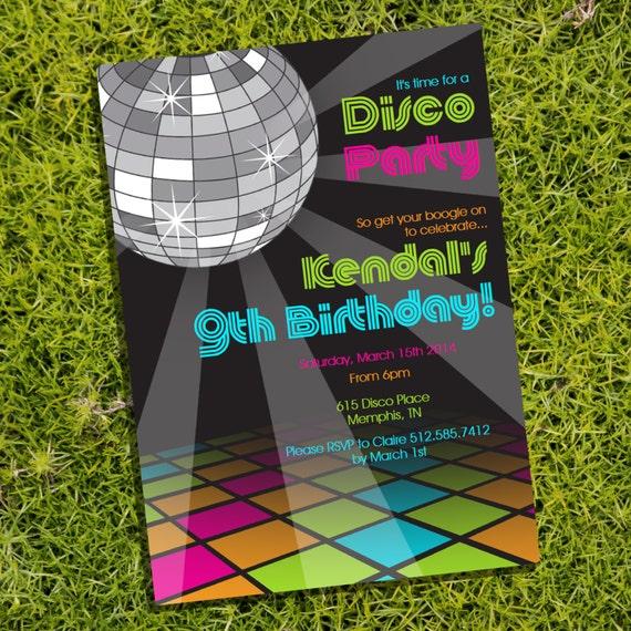 Disco Party Invitations for beautiful invitations ideas