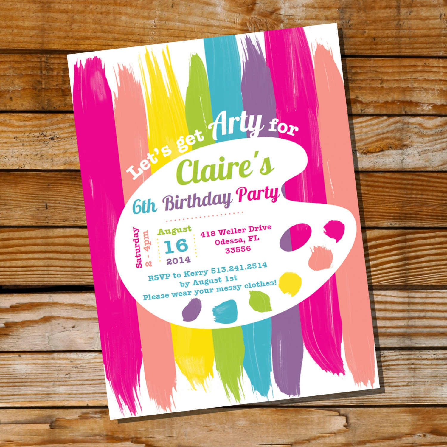 It is a photo of Remarkable Free Printable Paint Party Invitations