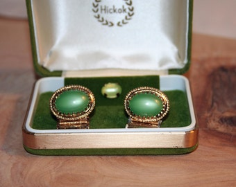 Vintage Hickok Cufflinks and Tie Tack