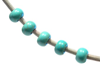 Turquoise Paracord Beads - Stunning 5.5mm hole beads - Great for 550 Paracord Bracelets and Necklaces