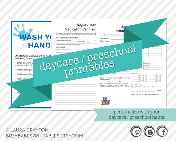 daycare    preschool printables hand by lauradraytoncreative
